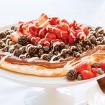 Красная, белая и голубая пицца - десертная пицца с Нутеллой