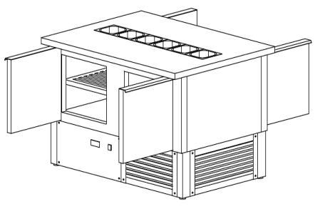 Стол холодильный с витриной для ингредиентов от компании «Баzисprofi»