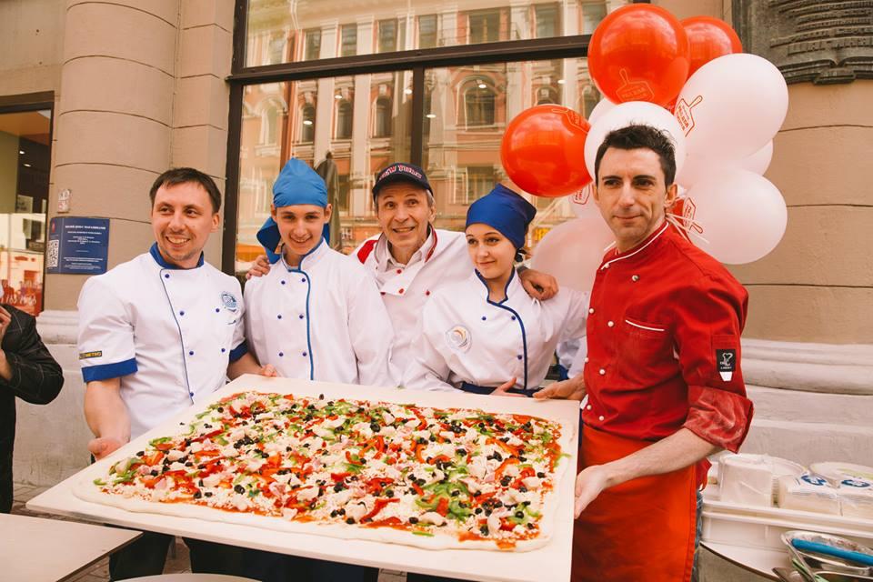 Открытие пиццерии «РАЗ, ДВА ПИЦЦА» на Арбате
