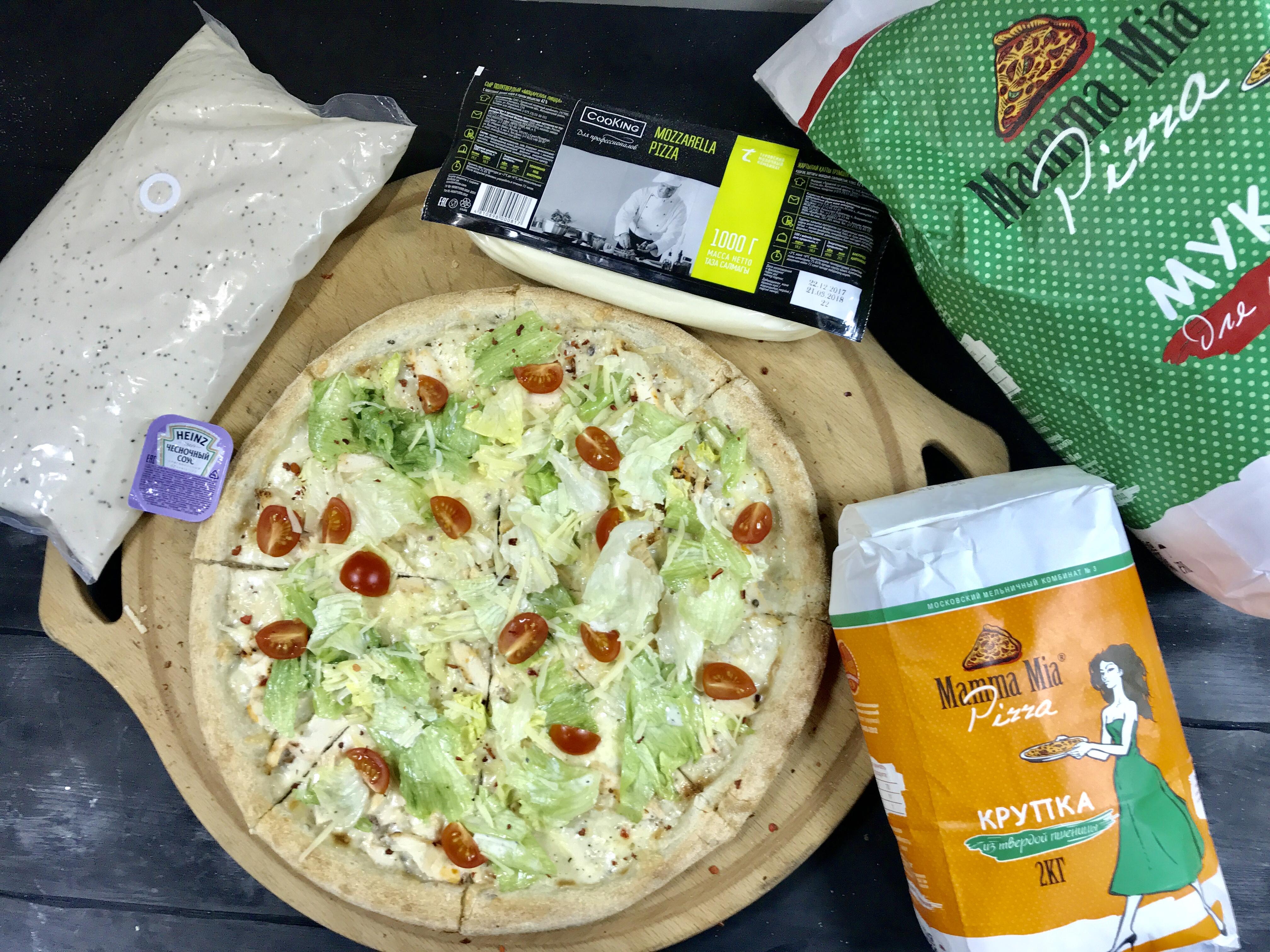 Рецепт месяца пицца «Цезарь»