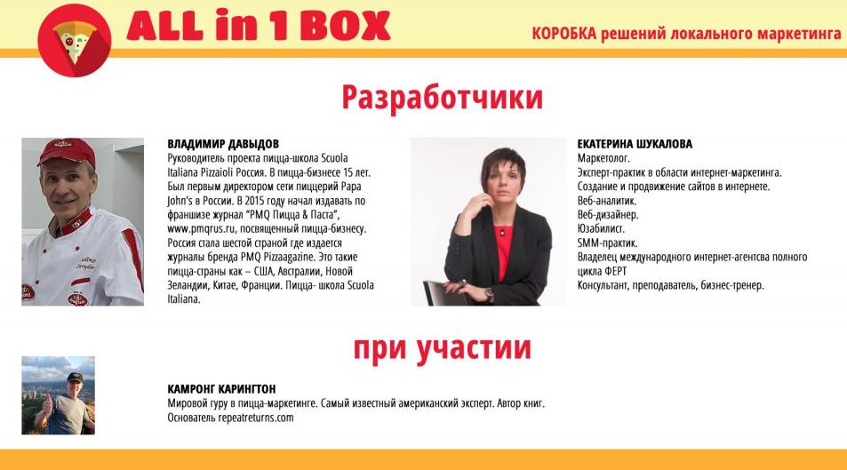 19 мая в 12:00 ВЕБИНАР   «ALL IN 2 BOX» Коробка решений локального маркетинга